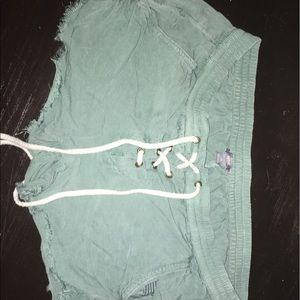 Aerie teal tie up shorts
